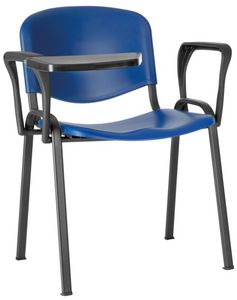 Conferenza polipropilene, Sedia per aula magna, salvaspazio, con seduta in polipropilene