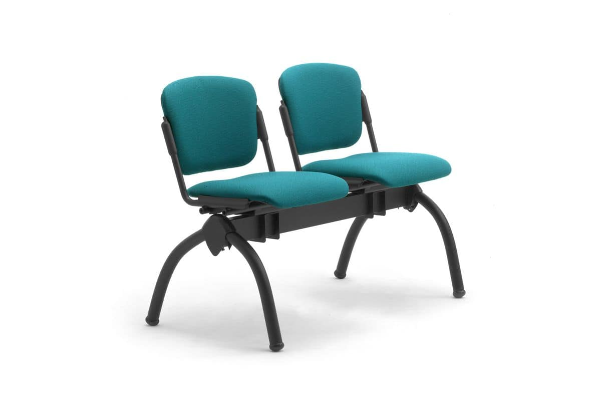 Cortina panca mista, Panca con sedute reclinabili imbottite, per università