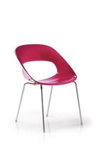 Ella 985, Sedia in plastica colorata per sala d'attesa