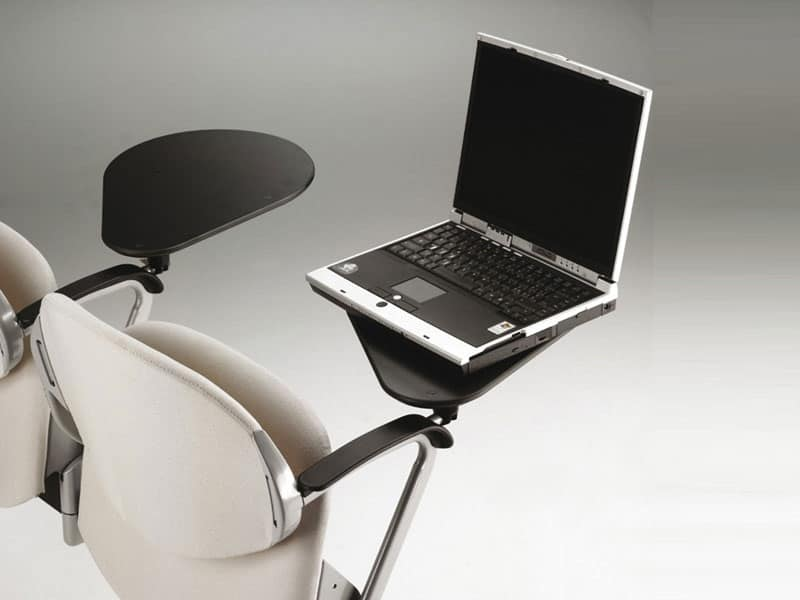 Ellisse trave, Sedia su barra con seduta ribaltabile per sala conferenza