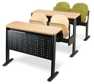 Oxford, Sistema di sedute per università, sedile ribaltabile
