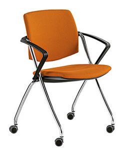 Q-Go IM, Sedia da conferenza imbottita, con ruote