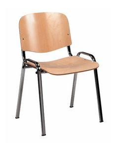 Stella wood 100, Sedia per sala polifunzionale, impilabile, in legno