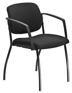 Universal 4 gambe, Sedia imbottita con braccioli, per sala convegni
