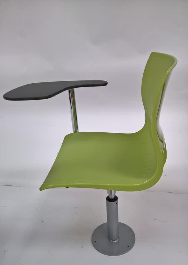 WEBBY 340/F with table, Seduta girevole e regolabile in altezza, per aule scolastiche