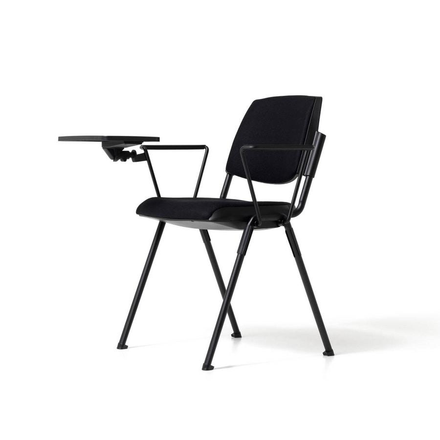 Sedia moderna con tavoletta scrittoio, per auditorium | IDFdesign