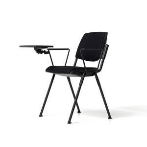 Bonn sedile rivestito, Sedia moderna con tavoletta scrittoio, per auditorium