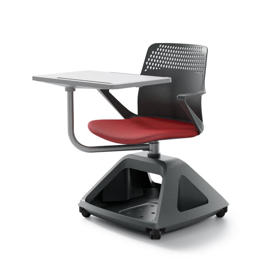 Sedia con tavoletta pieghevole, e base porta-oggetti | IDFdesign