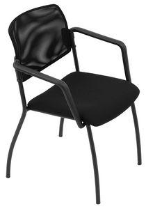 Universal net 4 gambe, Sedia impilabile, con schienale in rete, per sala conferenze
