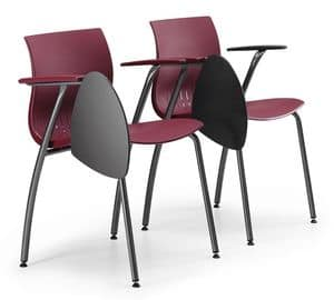 WEBBY 338 TDX, Sedia in metallo per conferenze, monoscocca in plastica