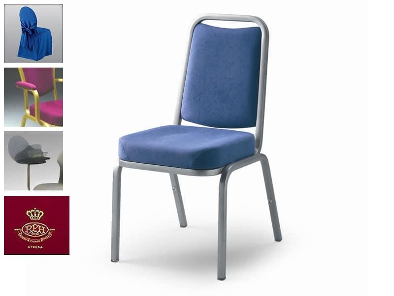 Sedia rivestita in tessuto o pelle, ignifuga  IDFdesign