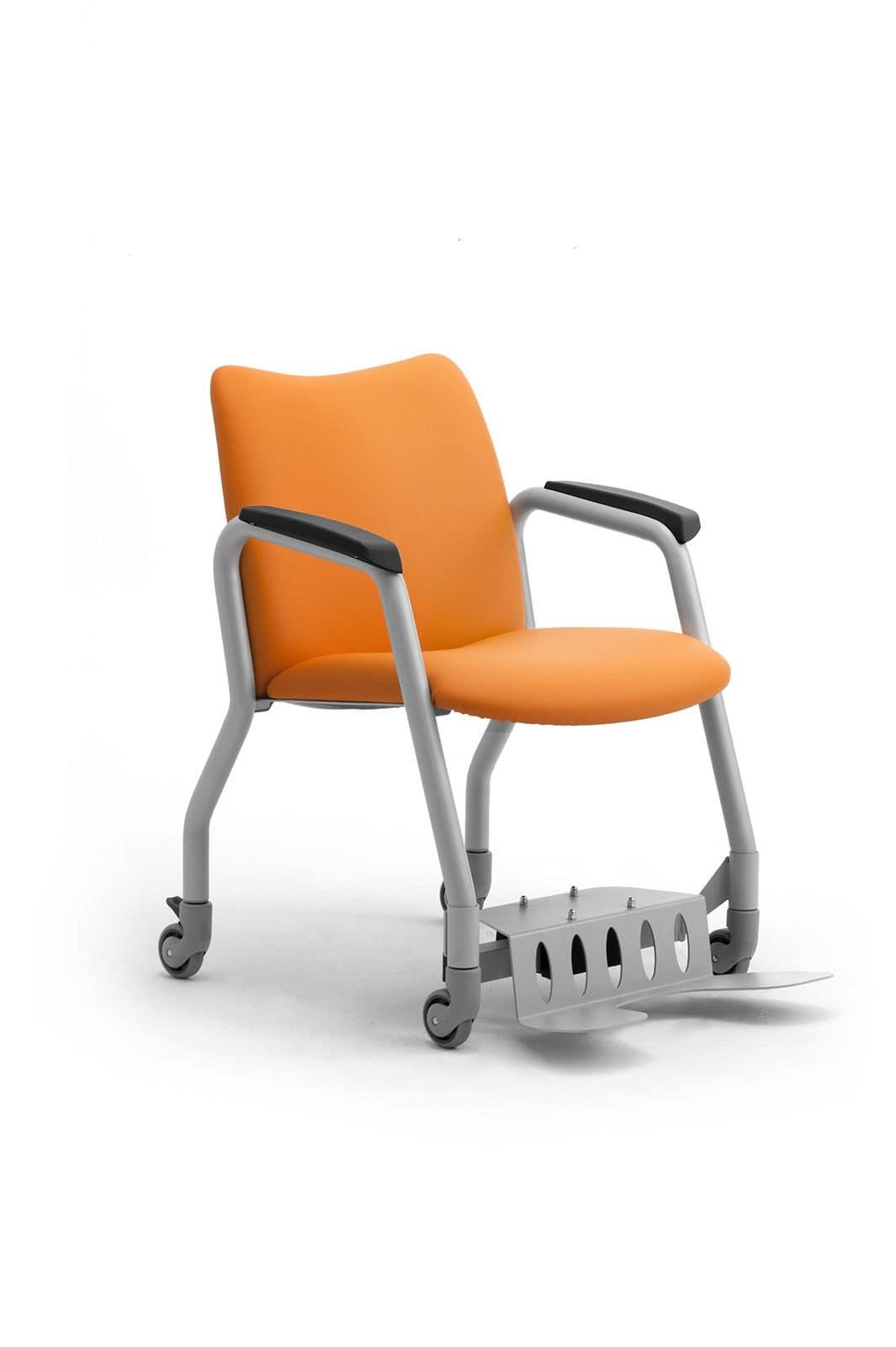 Giorgy con ruote 6410 sedia conferenza aula magna idfdesign - Sedia con ruote ...