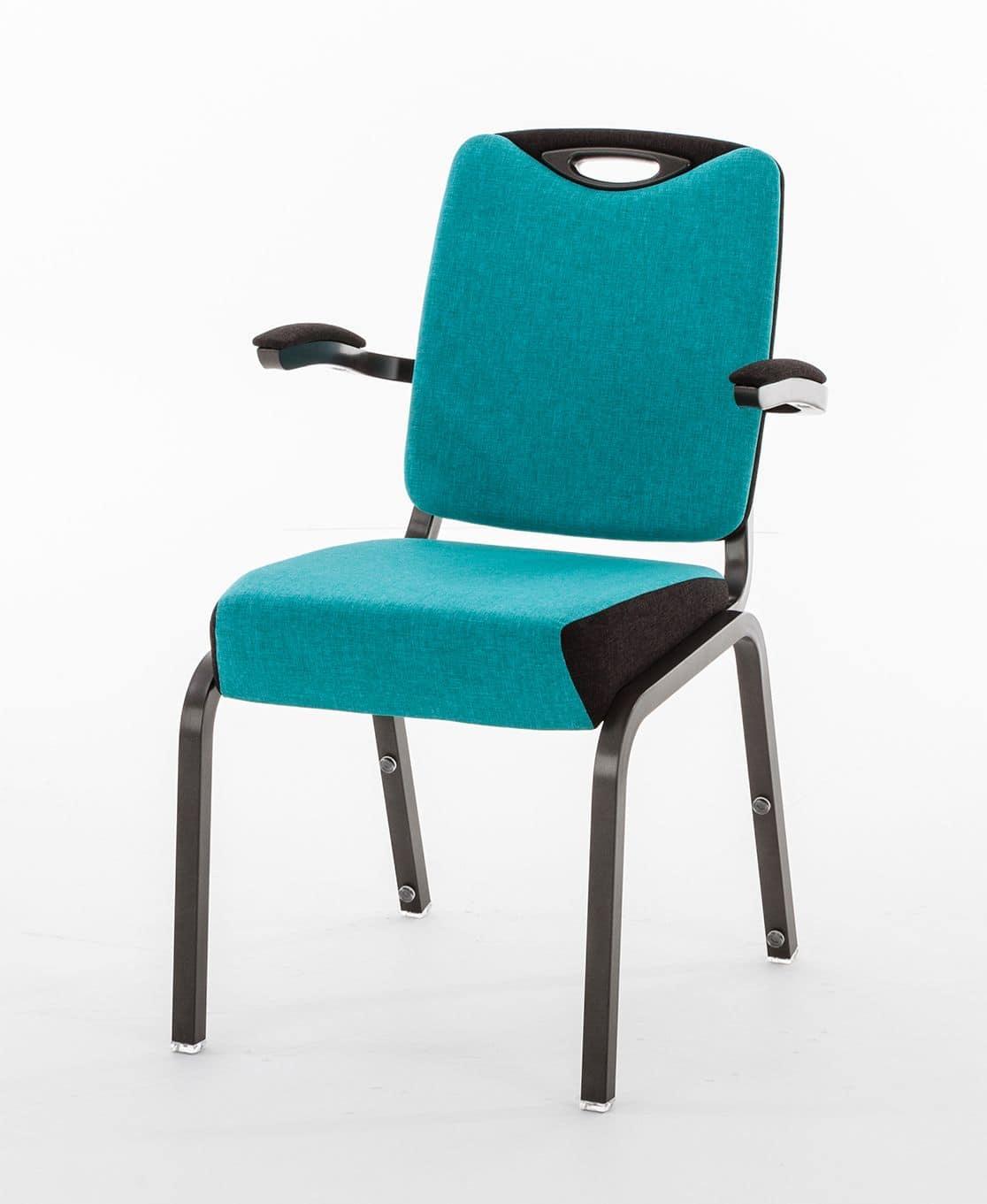 Inicio 09/4HA, Sedia con braccioli per conferenza, accessoriabile
