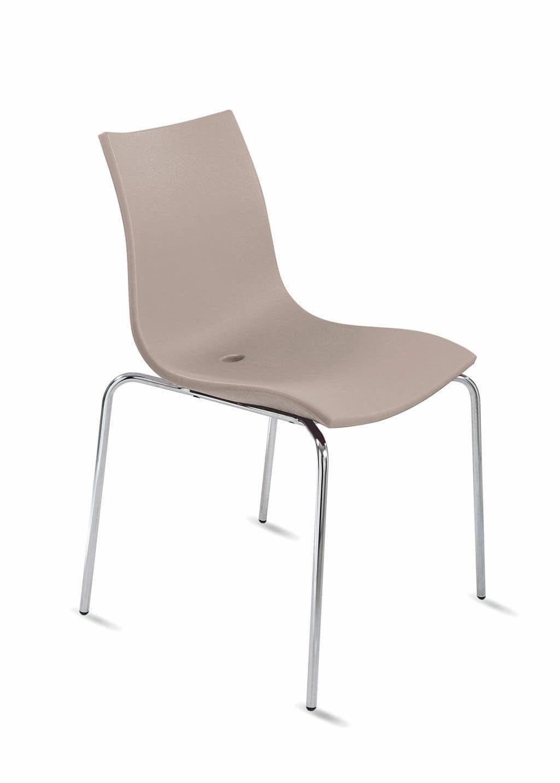 Sedia con monoscocca in plastica per ufficio e conferenze - Sedie design plastica ...