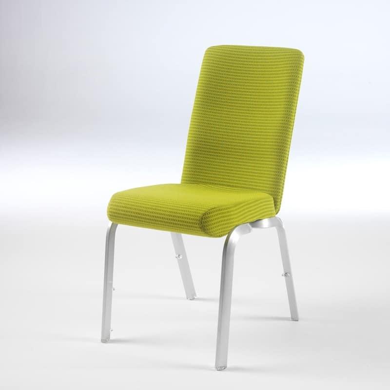 Sedia con seduta anatomica, impilabile, per sale meeting  IDFdesign