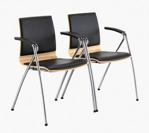 Q2 W, Sedia con braccioli per conferenza