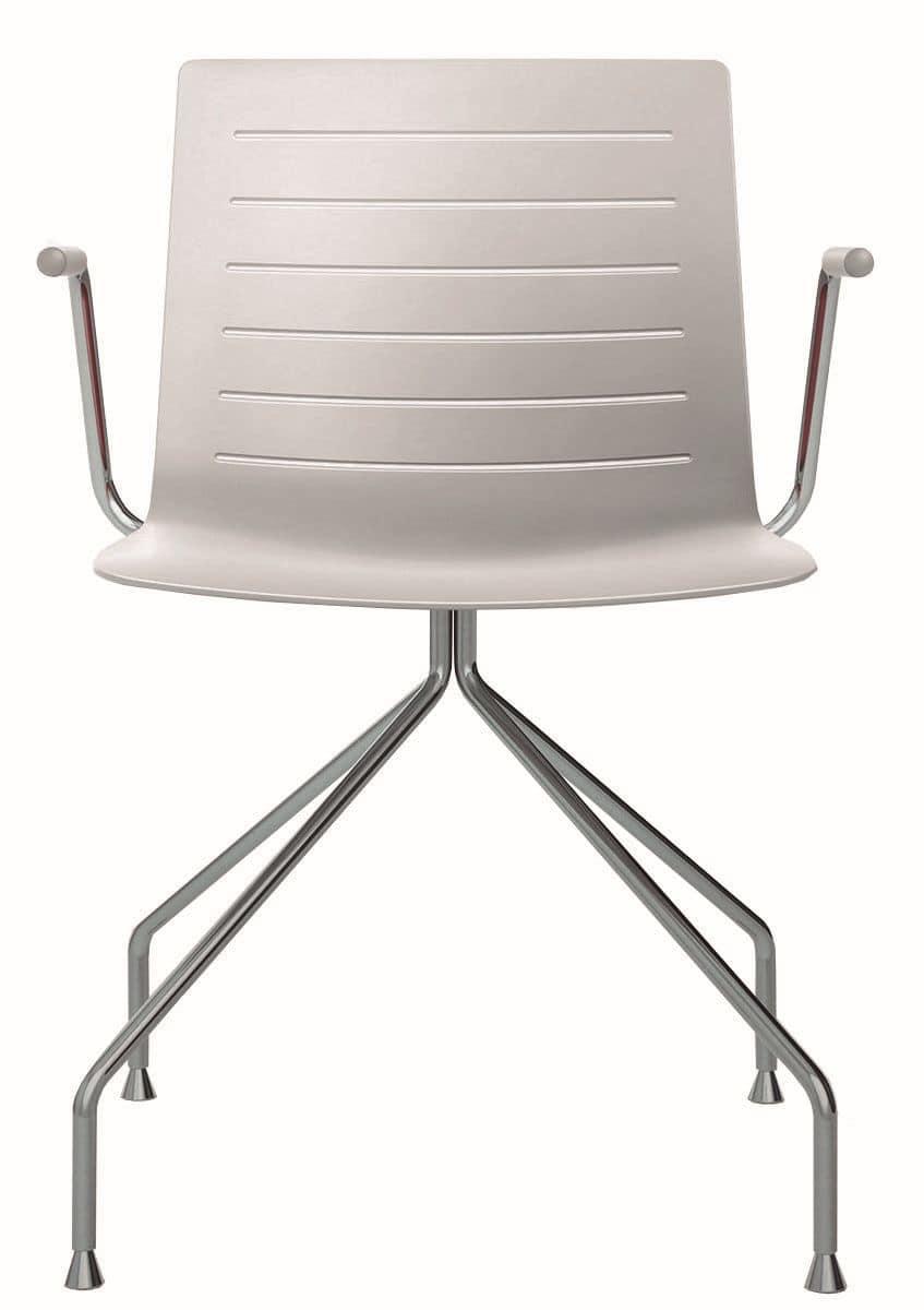 Sedia moderna con braccioli ideale per sala riunione for Sedie plastica moderne