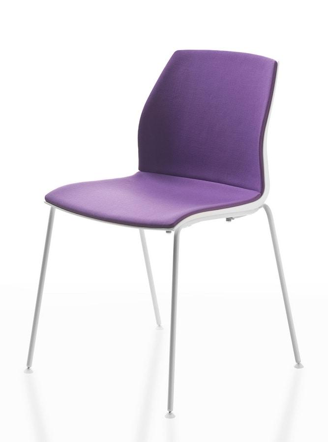 Sedia impilabile in vari colori per sala congresso for Colori per sala