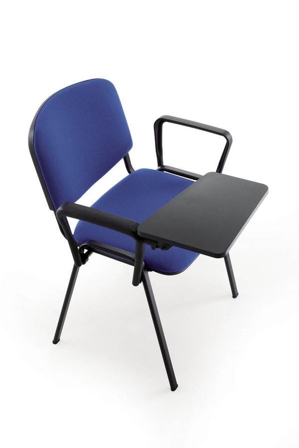UF 100, Sedia in metallo, imbottita, per sala conferenza