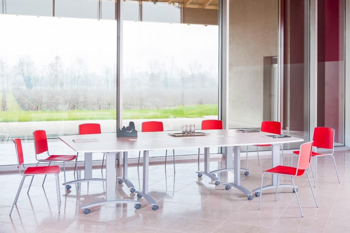 Sedia con struttura in metallo per sale conferenze  IDFdesign