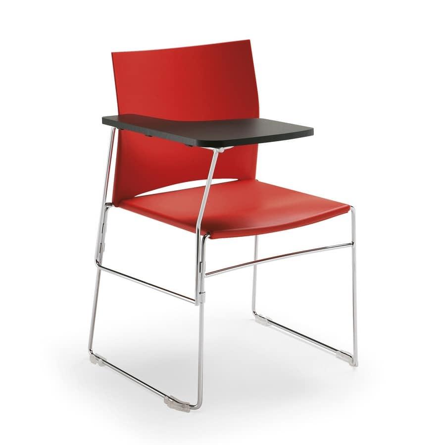 Sedia con tavoletta di scrittura pieghevole | IDFdesign