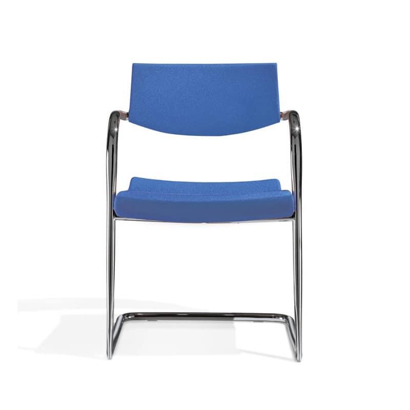 Klic, Sedia in metallo, impilabile, per sala conferenza e riunione