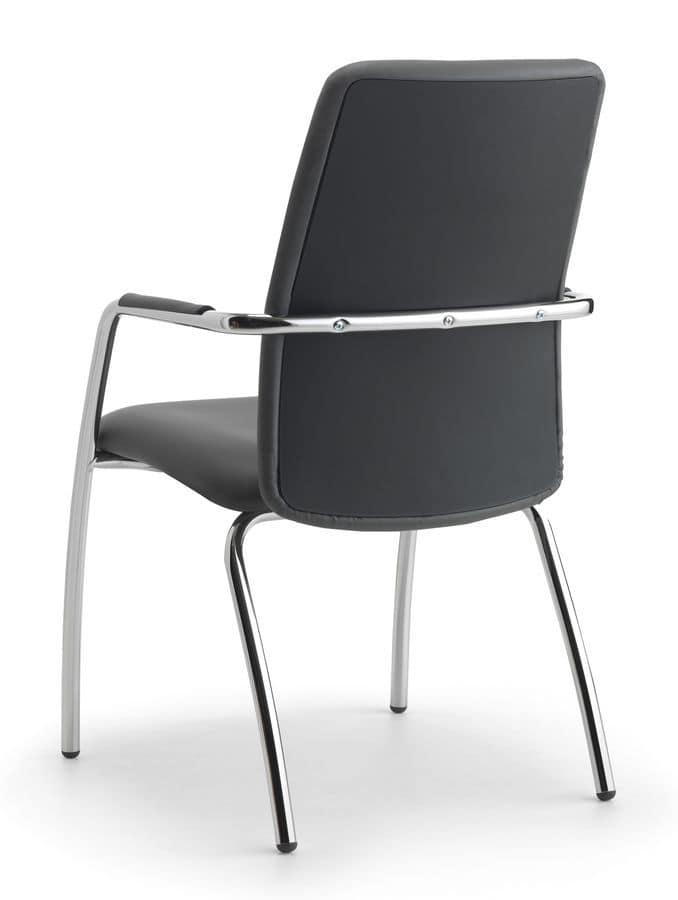 Samba HB 02, Sedia imbottita, base in metallo, per conferenze e riunioni