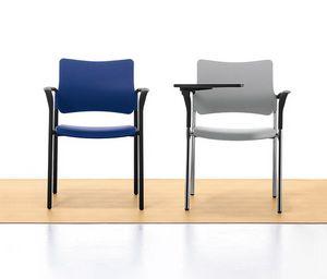 Urban 02, Sedia impilabile in metallo e polipropilene, per sala riunione