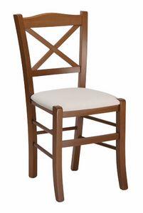 111, Sedia per ristorante, con seduta personalizzabile