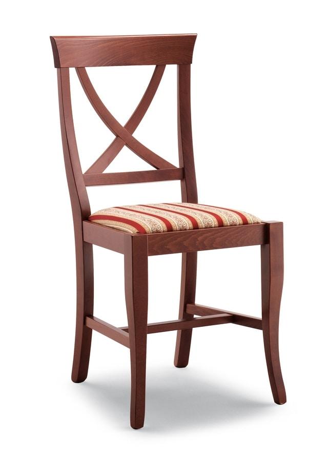 113, Sedia in legno di faggio, per ristorante e bar