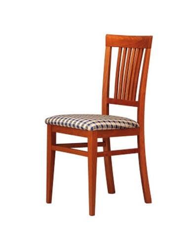 316, Sedia imbottita con schienale in legno, per bar e hotel