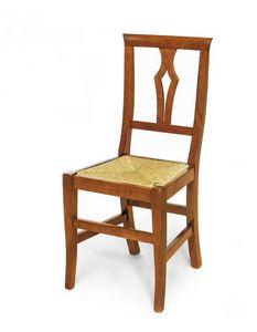 Art.104, Sedia in legno con seduta in paglia