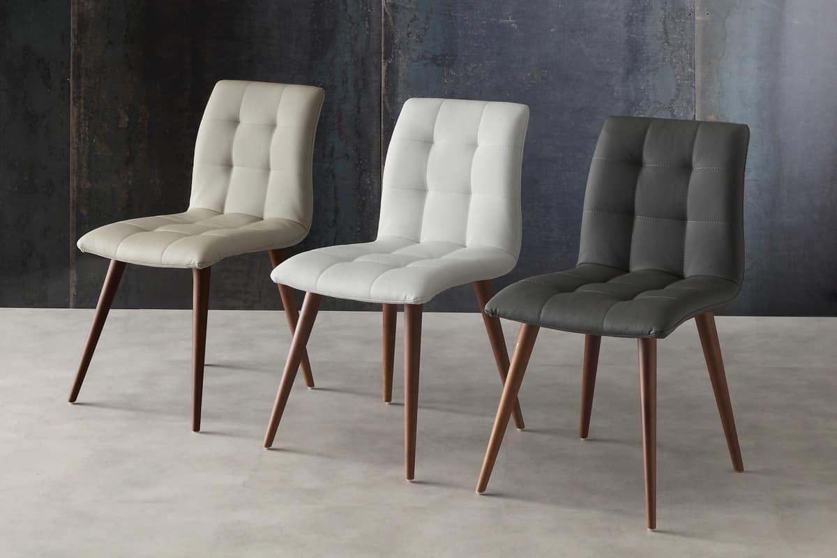 HOME P10 Moderno Prodotti Sedute Sedie Moderne Legno Pelle Senza  #60493D 1200 800 Sedia Imbottita Per Sala Da Pranzo