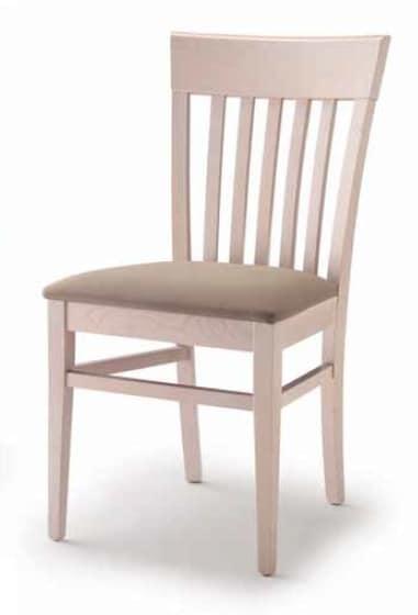 Cinzia, Sedia da pranzo con seduta imbottita
