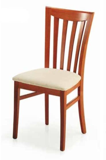 Demetra, Sedia con seduta imbottita, per sala da pranzo