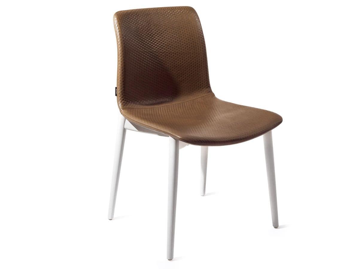 Sedia in legno scocca imbottita per bar e ristoranti for Sedia design amazon