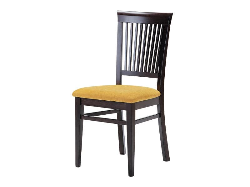 Sirast, Sedia per sala da pranzo, in legno con seduta imbottita