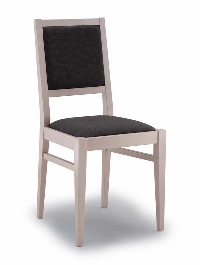 Sedia imbottita, per sala da pranzo | IDFdesign