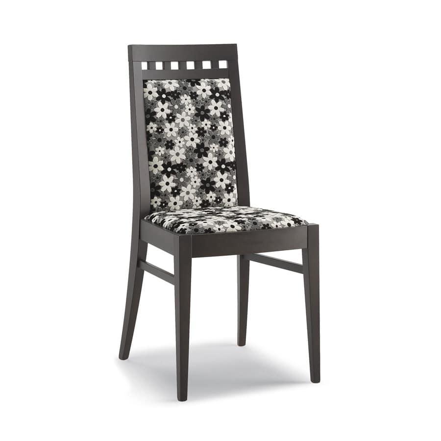 Sedia con struttura in legno, schienale alto, per soggiorno | IDFdesign