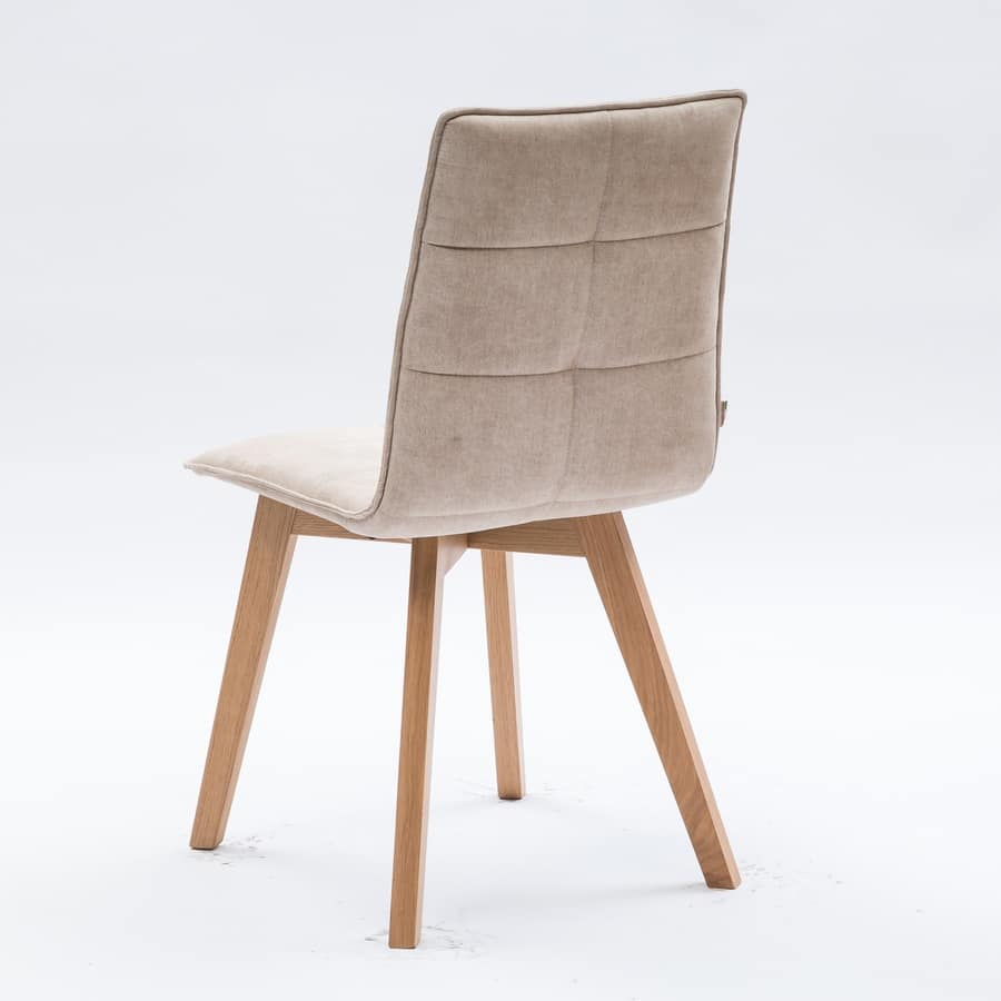 Sedia rivestita in cotone per sala da pranzo idfdesign for Contract sedie