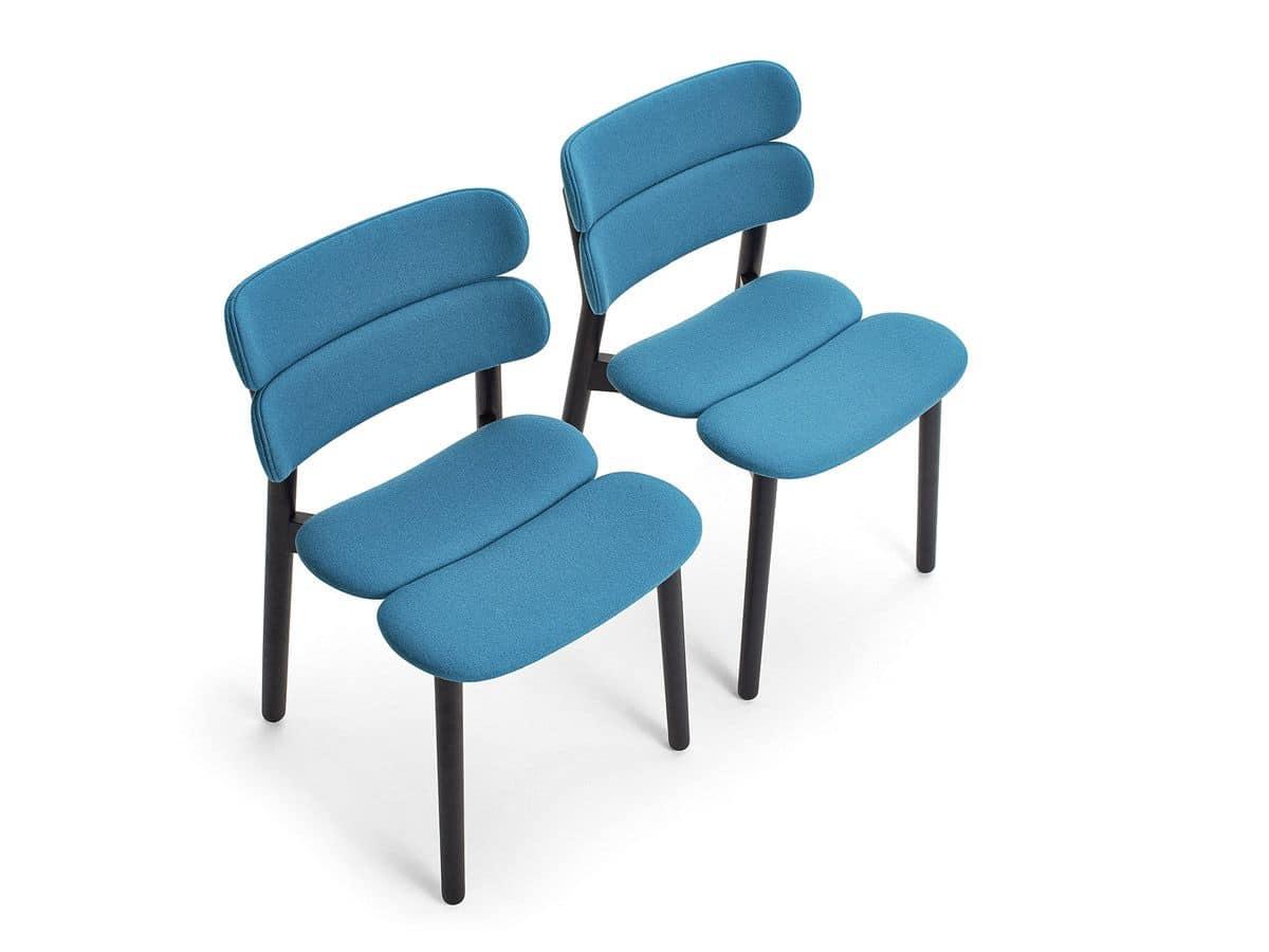 Sedia in legno seduta e schienale imbottiti per bar e - Schienale sedia ...