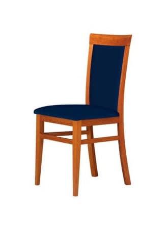 C07, Sedia con struttura in faggio, seduta e schienale imbottiti