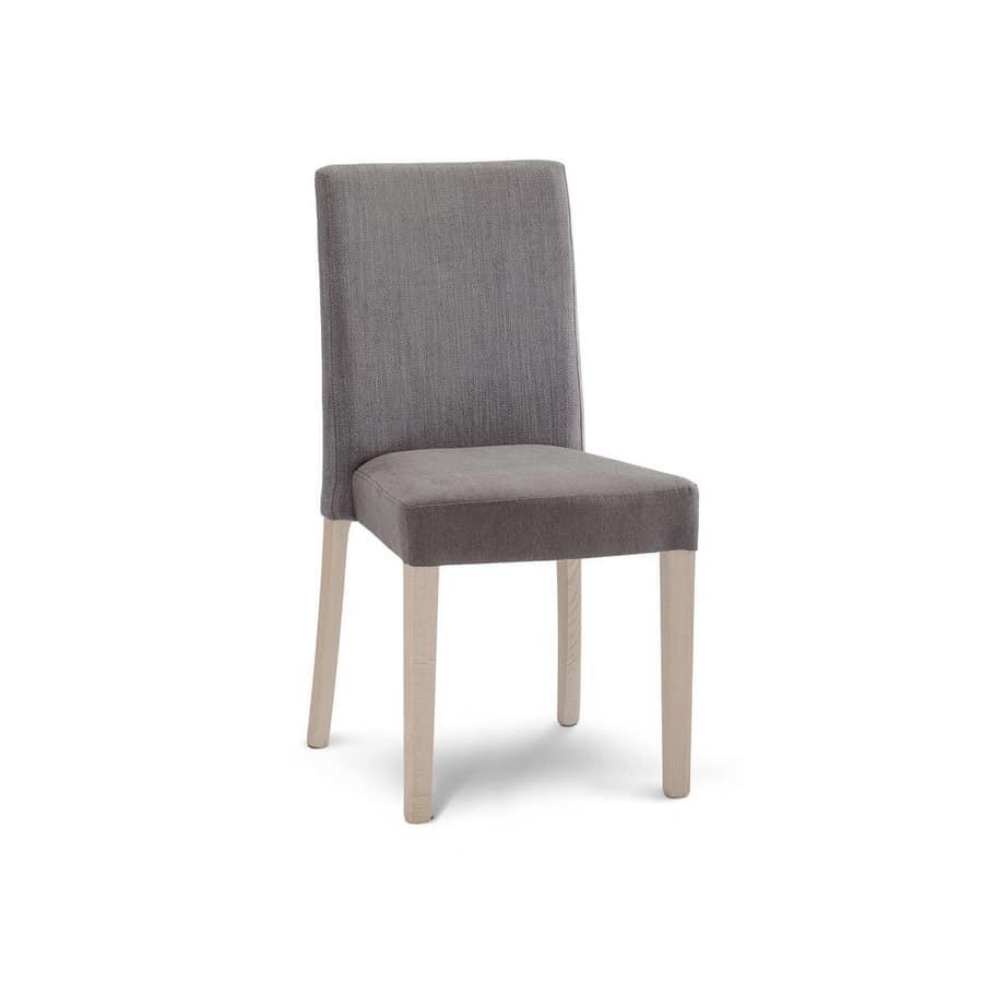 Sedia imbottita per sala da pranzo | IDFdesign