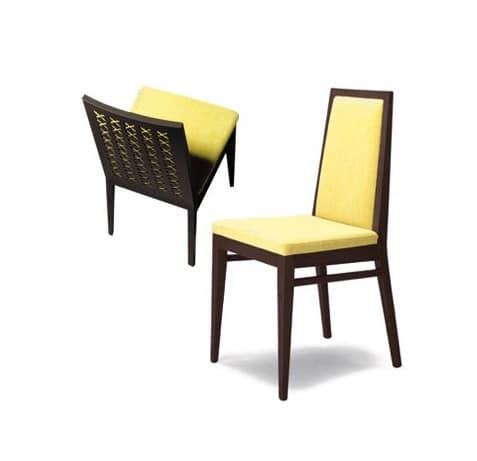 Sedia semplice in legno massiccio per sale da pranzo - Sedie pranzo design ...