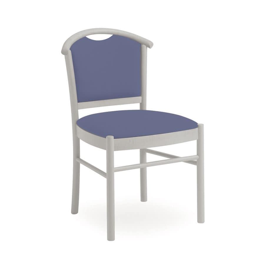 Dolly L1047 M, Sedia in legno, confortevole e maneggevole, per ristorante