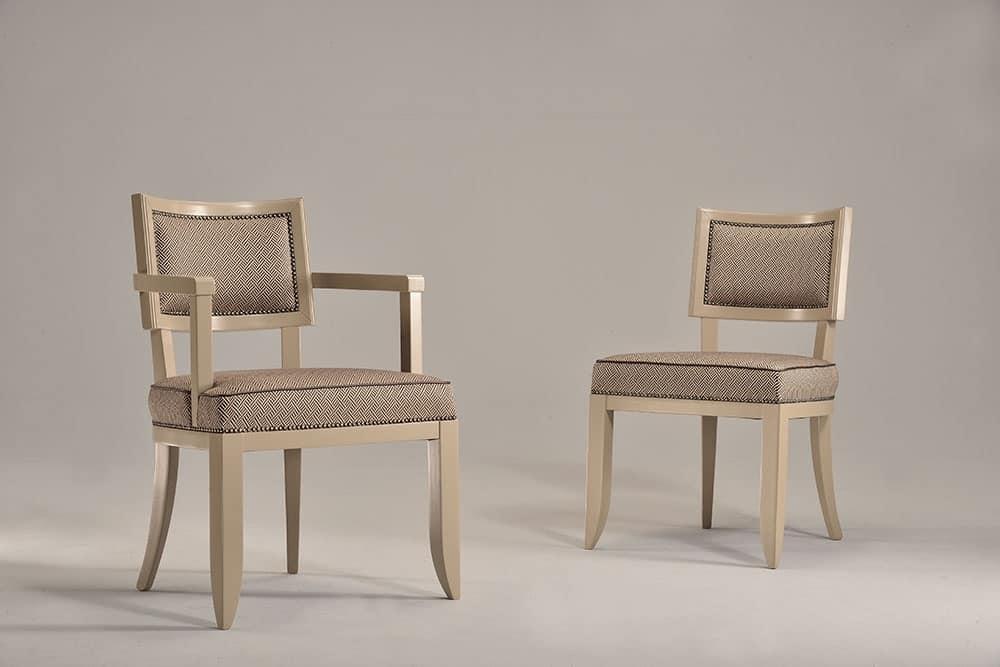Sedia imbottita in faggio per uso contract e alberghiero for Sedia design amazon