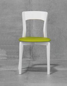 ISOTTA, Sedia con seduta imbottita, in frassino o faggio