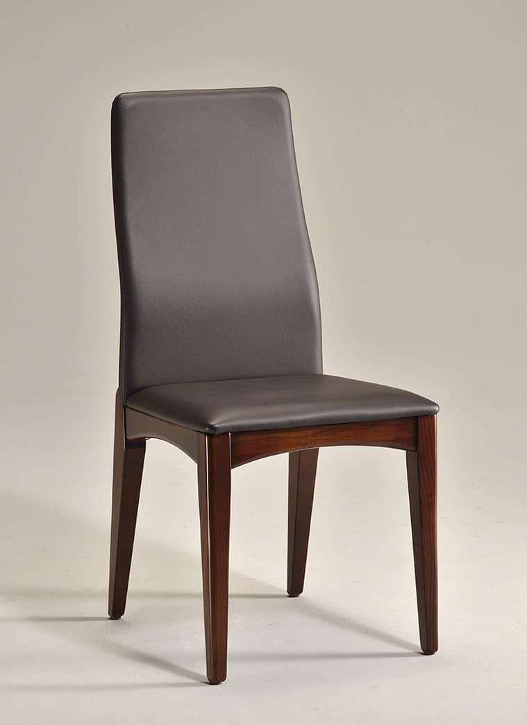 sedia da pranzo in legno naturale design semplice idfdesign