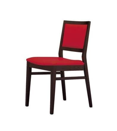 Sedia con seduta e schienale imbottiti ricoperti in - Sedie imbottite design ...