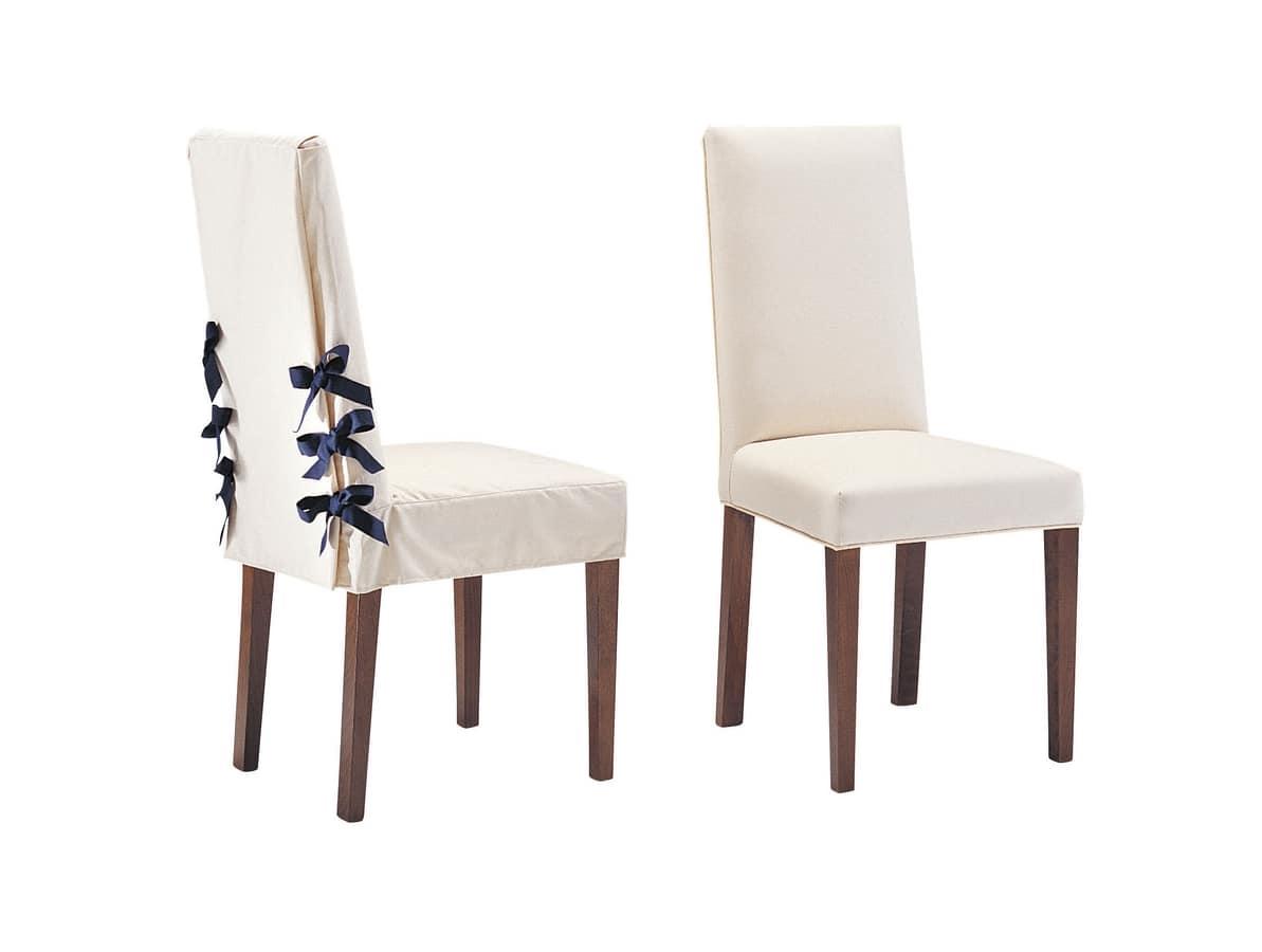 Sedie Imbottite Capitonnè : Sedia per elegante sala da pranzo con lacci in caneté idfdesign